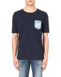 Diesel T-thunder Denim Pocket T-shirt - Lyst
