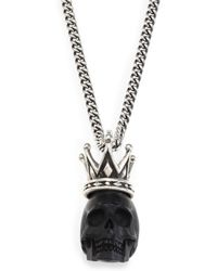 King Baby Studio - Skull with Crown Pendant Necklace - Lyst