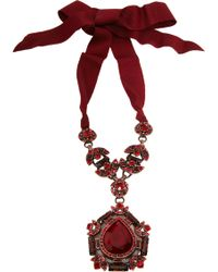 Lanvin Crystal Babylon Pendant Necklace - Lyst