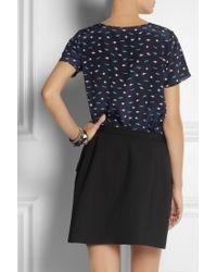 Lulu & Co - Planet print Silk Tshirt - Lyst