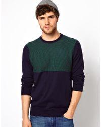 Dr. Denim - Paul Smith Jeans Color Block Sweater - Lyst