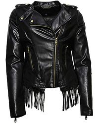 Steve Madden Leather Jacket - Black