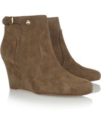 8a251d6e11d3f0 Tory Burch - Milan Suede Wedge Ankle Boots - Lyst