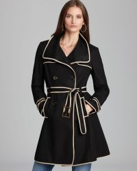 Adrianna Papell - Belted Trench with Contrast Binding - Lyst