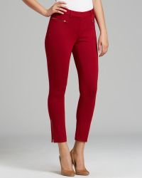 Adrianna Papell - Ponte Trousers with Zip Detail - Lyst