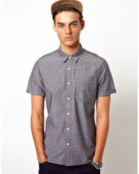 Simon Carter - Shirt in Short Sleeve with Polka Dot Print - Lyst