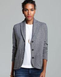 C By Bloomingdale's Cashmere Shawl Collar Herringbone Blazer - Grey