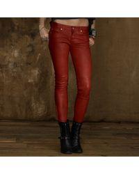 Denim & Supply Ralph Lauren Leather Skinny Pant - Lyst