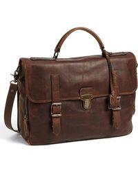 Frye 'Logan' Leather Buckle Briefcase - Lyst
