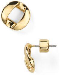 Marc By Marc Jacobs Link To Katie Stud Earrings - Metallic
