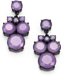 Kate Spade Circle Chandelier Earrings - Lyst