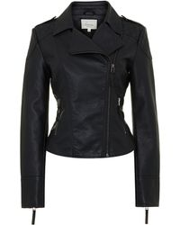 Linea Weekend Ladies Faux Leather Pu Biker Jacket - Lyst