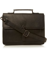 Dune Packard Structured Satchel Bag - Black