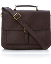 Dune Packard Structured Satchel Bag - Brown