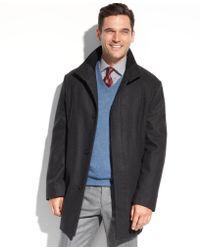 Perry Ellis Wool-Blend Walking Coat - Lyst