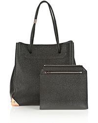 Alexander Wang | Prisma Large Tote In Pebbled Black With Rose Gold | Lyst