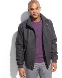 Calvin Klein Wool Blend Bomber - Lyst