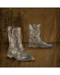 Denim & Supply Ralph Lauren - Metallic Suede Boot - Lyst
