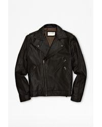 French Connection Sabah Leather Biker Jacket - Black