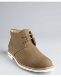 Jd Fisk - Taupe Canvas Lace-up Henri Chukka Boots - Lyst