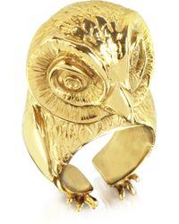 Bernard Delettrez - Bronze Big Owl Ring - Lyst