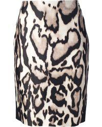 Diane von Furstenberg Leopard Print Pencil Skirt - Lyst
