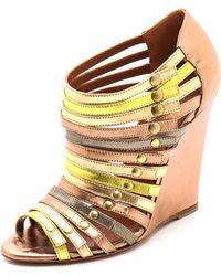 Edmundo Castillo - Uma Strappy Wedge Sandals - Lyst