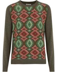 Emma Cook - Fine Knit Printed Silk Jumper - Lyst