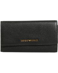 Emporio Armani Continental Wallet In Boarded Leather - Lyst