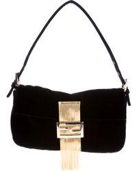 Fendi Fringed Baguette Shoulder Bag - Lyst