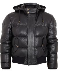 Givenchy Quilted Leather Bomber Jacket - Black