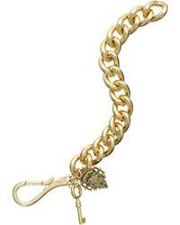 Lauren by Ralph Lauren - Gold-Tone Charm Chain Link Bracelet - Lyst