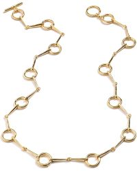 Lauren by Ralph Lauren - Goldtone Horsebit Station Long Necklace - Lyst