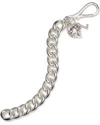 Lauren by Ralph Lauren - Silver Tone Curb Chain Bracelet - Lyst