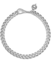 Lauren by Ralph Lauren - Silver-Tone Large Curb Chain Necklace - Lyst
