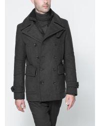 Zara Basic Double Breasted Three Quarter Length Coat - Lyst