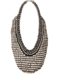 Deepa Gurnani - Two Tone Armor Necklace - Lyst