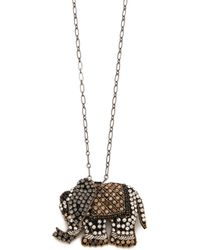 Deepa Gurnani - Elephant Pendant Necklace - Lyst