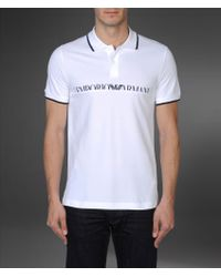 Emporio Armani Shortsleeved Polo Shirt - Lyst