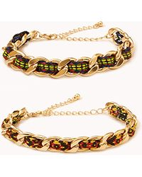 Forever 21 - Friendship Curb Chain Bracelets - Lyst