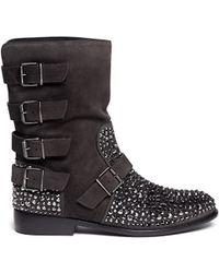 Giuseppe Zanotti - Rhinestone-embellished Boots - Lyst