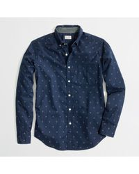 J.Crew Factory Washed Shirt in Diamond - Lyst