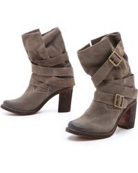 Jeffrey Campbell France Suede Boots - Grey - Lyst