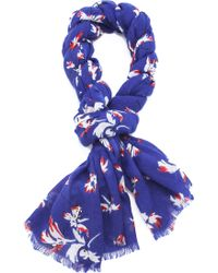 Juicy Couture - Feathered Iris Scarf - Lyst