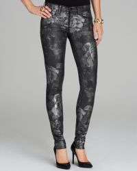 Juicy Couture Jeans Floral Foil Skinny in Black - Lyst