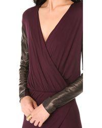 Mason by Michelle Mason Long Sleeve Wrap Gown - Lyst