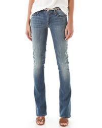Mother Runaway Skinny Flare Jeans - Graffiti Girl - Lyst