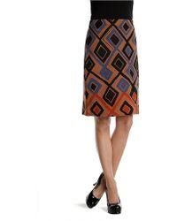 Nic + Zoe Falling Diamonds Wink Skirt multicolor - Lyst