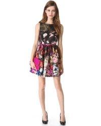 RED Valentino Hazy Garden Sleeveless Dress - Lyst