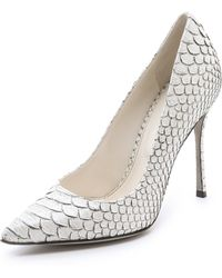 Sergio Rossi Painted Python Pumps white - Lyst